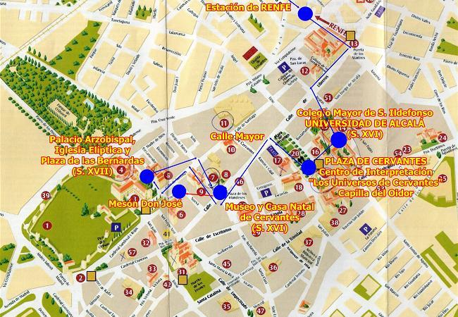Mapa Alcala De Henares.Despues De La Visita Cultural A Alcala De Henares